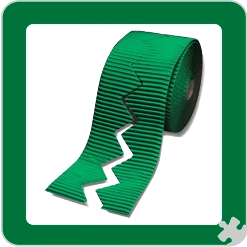 Emerald Green Bordette Border Roll, Zig Zag Edge